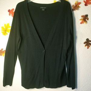 New York & company black cardigan size xl